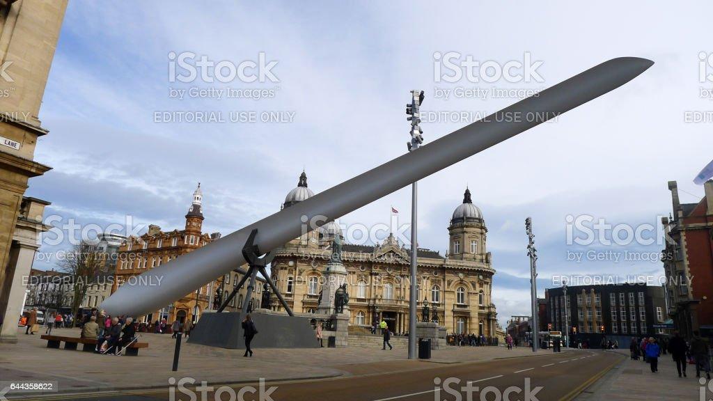 Wind Turbine Blade Kingston upon Hull stock photo