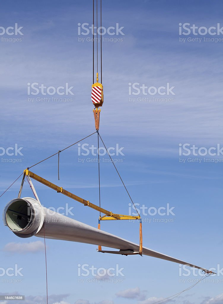 Wind turbine blade stock photo