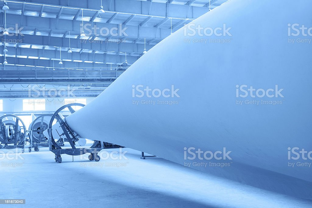 Wind turbine blades stock photo