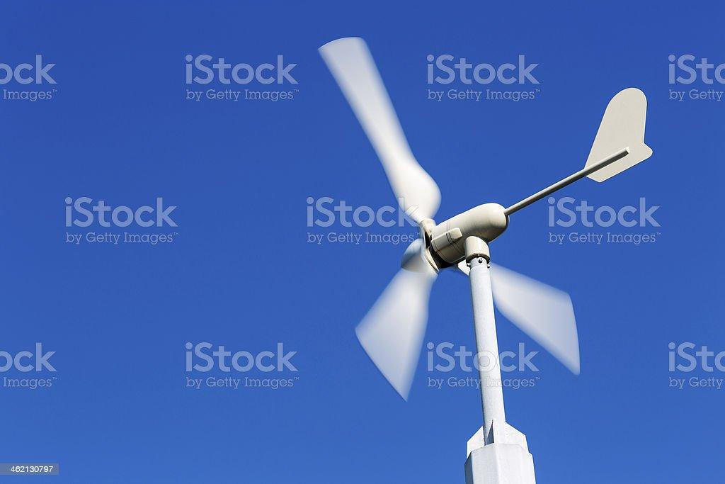Wind Turbine, Clear Blue Sky stock photo