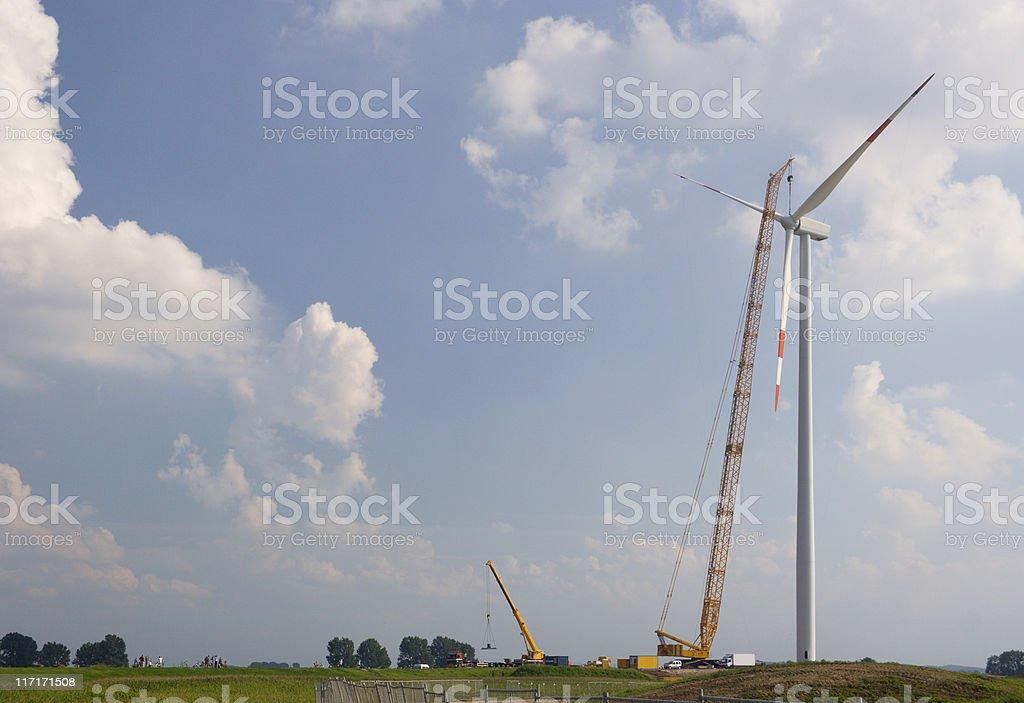 Wind Turbine Construction royalty-free stock photo