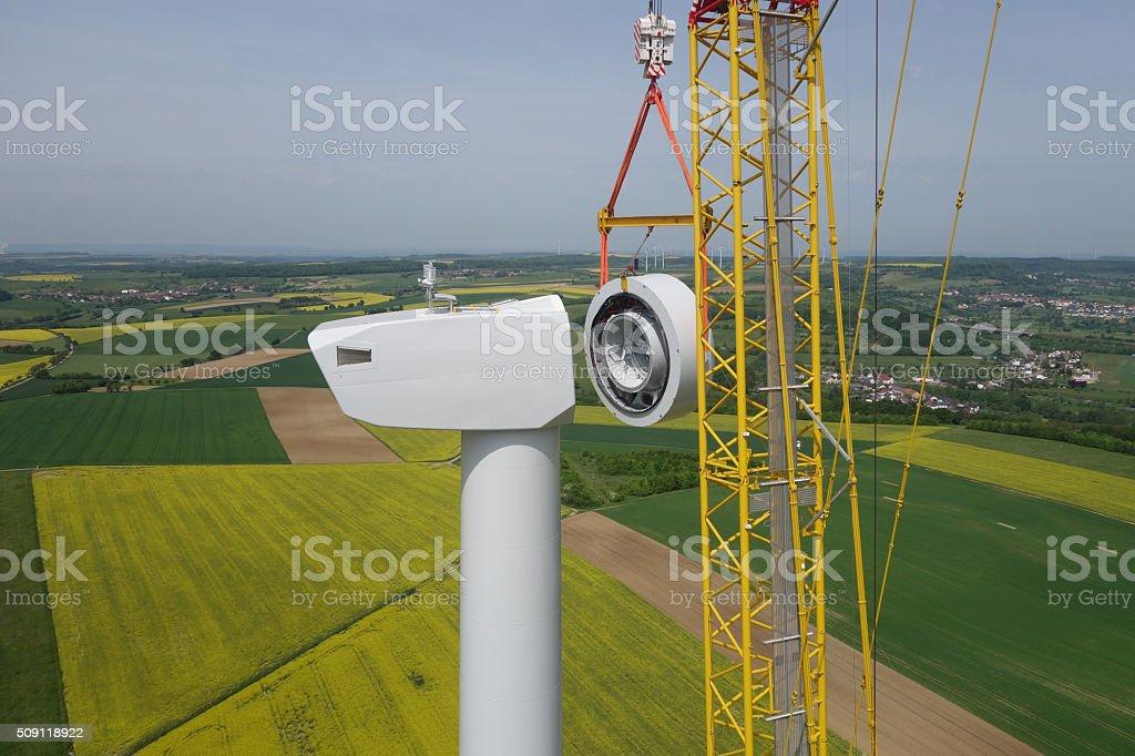 Wind Turbine Construction. stock photo