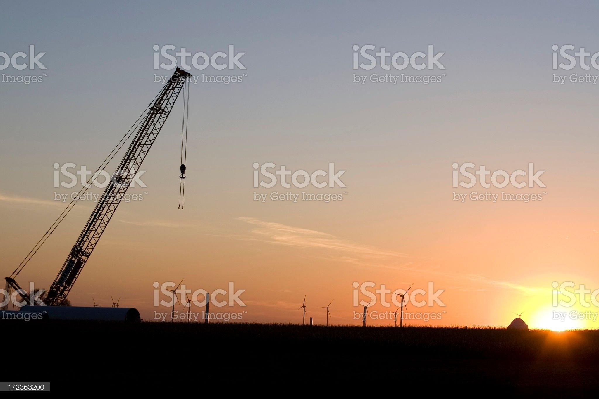 Wind Turbine Construction Site royalty-free stock photo