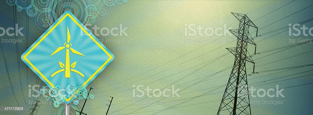 Wind Turbine - Eco Signs stock photo