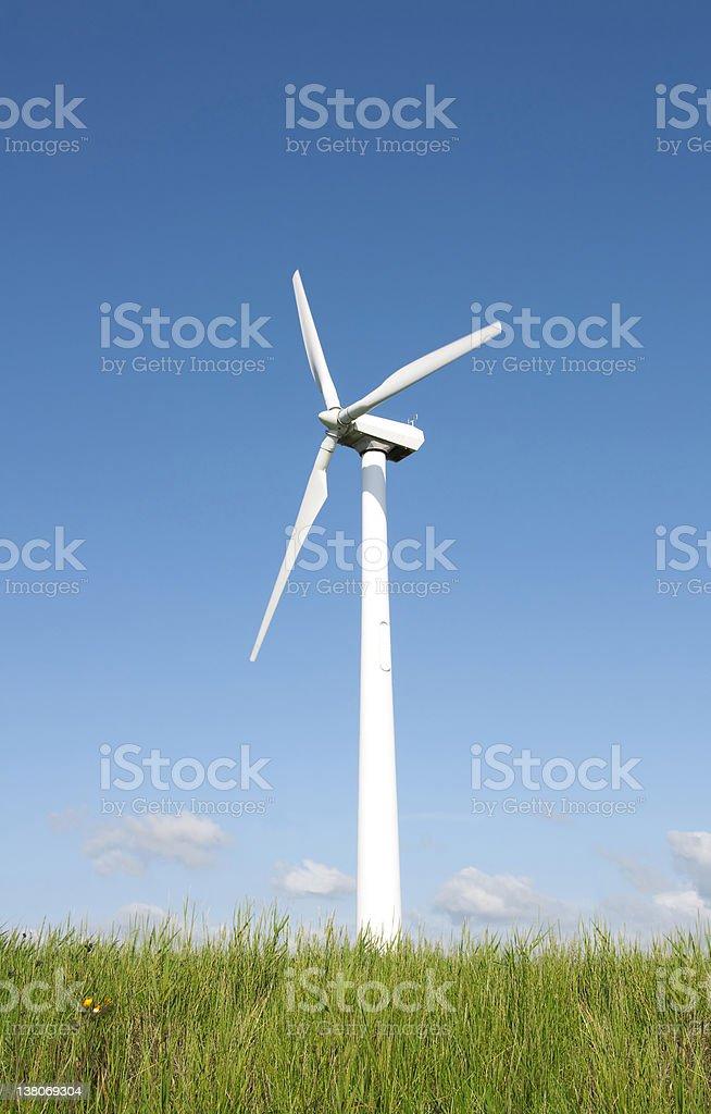 Wind Turbine Ecofriendly Energy royalty-free stock photo