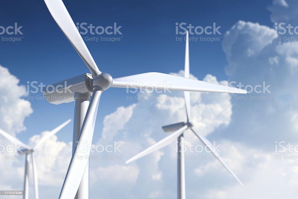 Wind turbine. Ecological power generation. stock photo