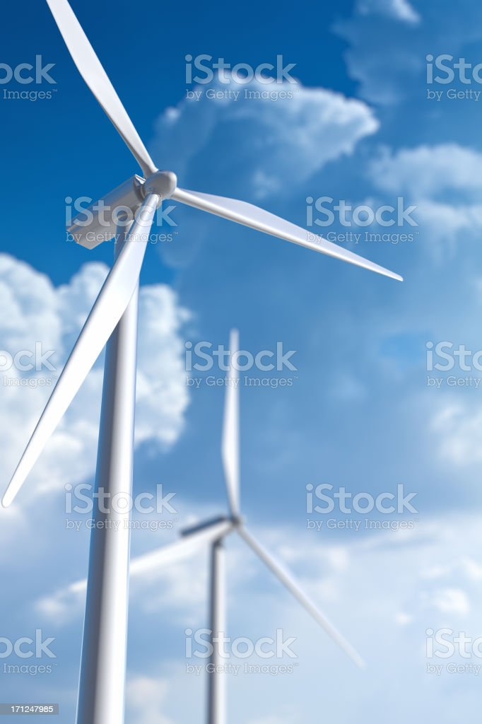 Wind turbine. Ecological power generation. royalty-free stock photo