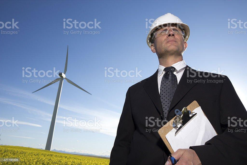 Wind Turbine Engineer royalty-free stock photo