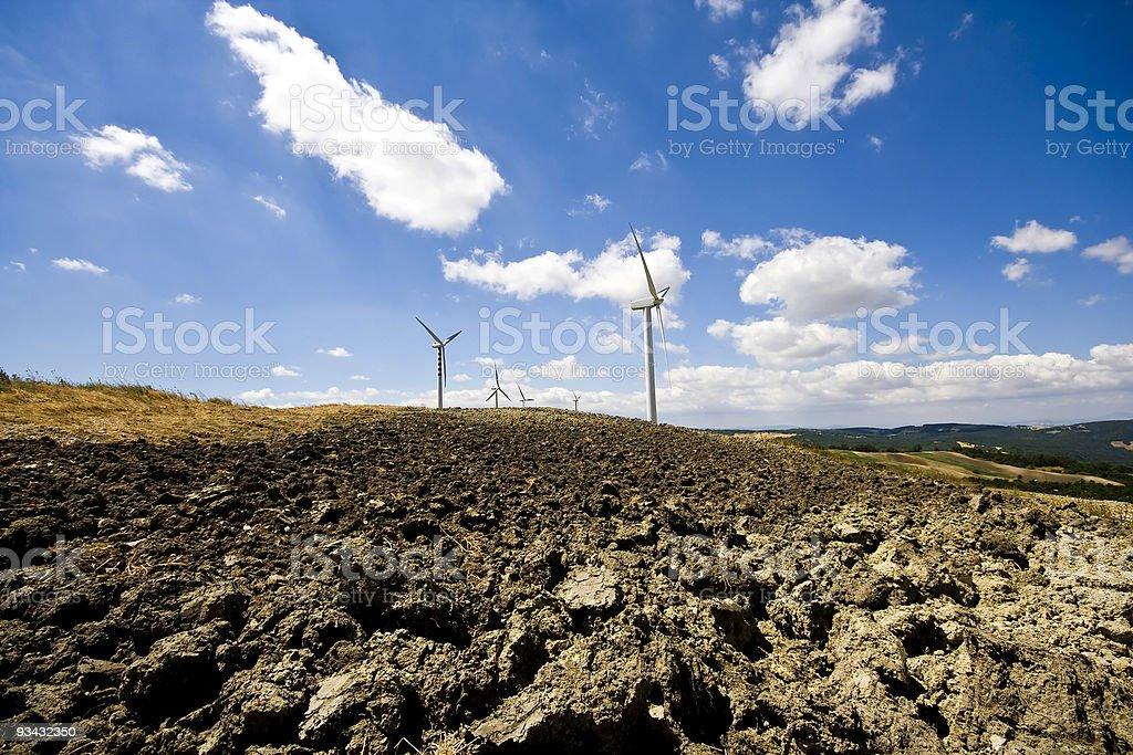 Wind turbine farm in Molise, Italy royalty-free stock photo