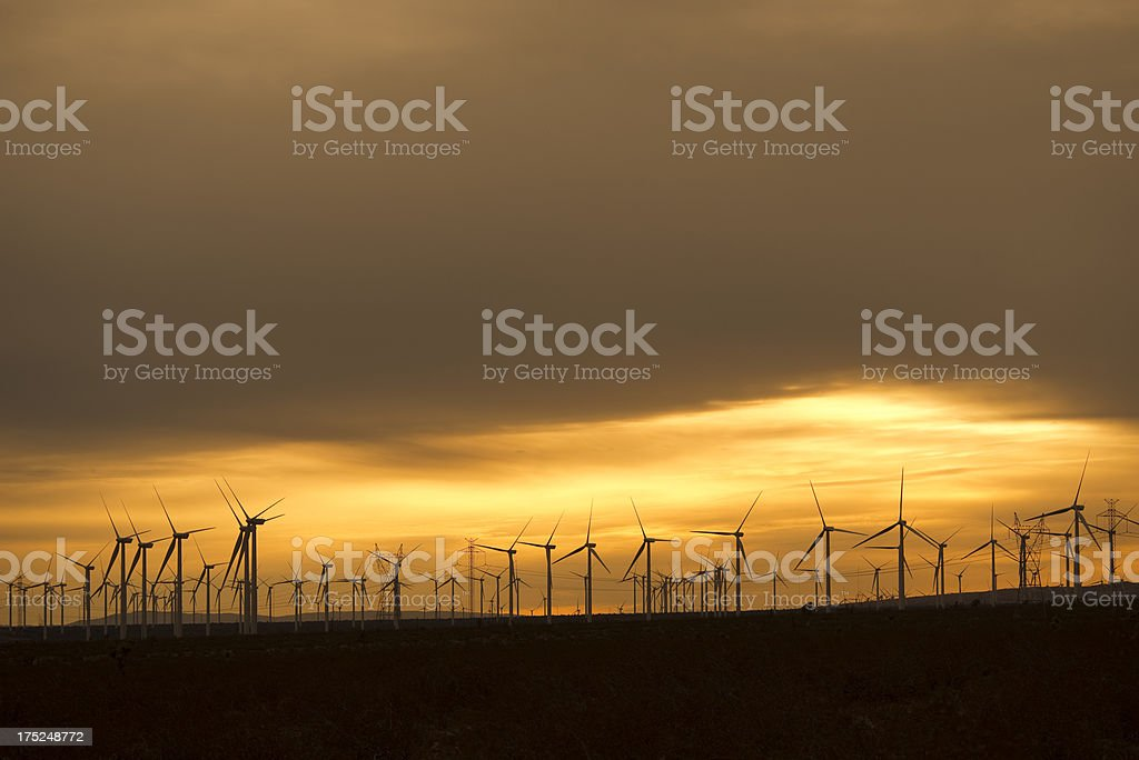 Wind turbine farm royalty-free stock photo