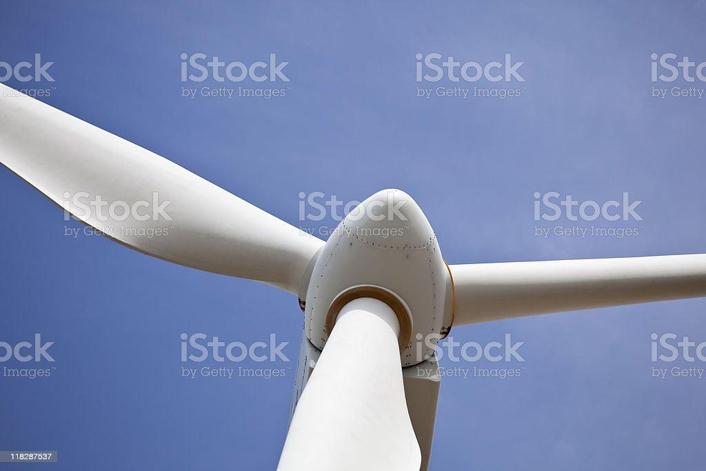 Wind Turbine from below stock photo