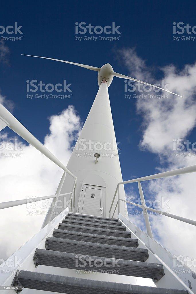 wind turbine from below royalty-free stock photo