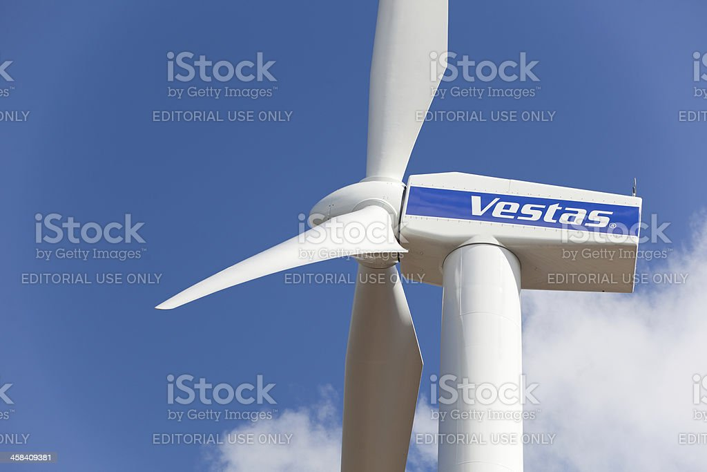 Wind turbine from Danish company Vestas. royalty-free stock photo