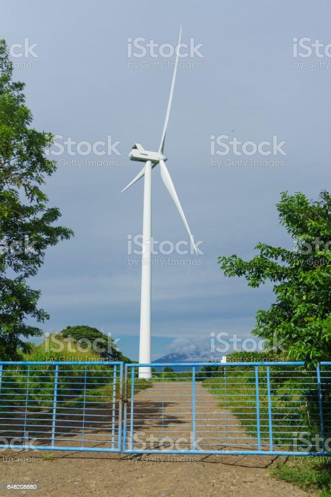 Wind turbine from Nicaragua stock photo