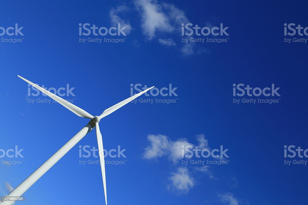 Wind turbine in landscape, an environmentally sustainable energy! royalty-free stock photo