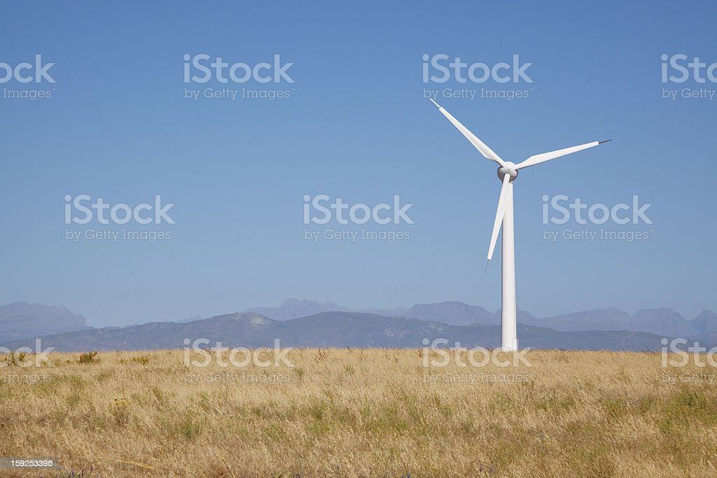 Wind Turbine in South Africa royalty-free stock photo