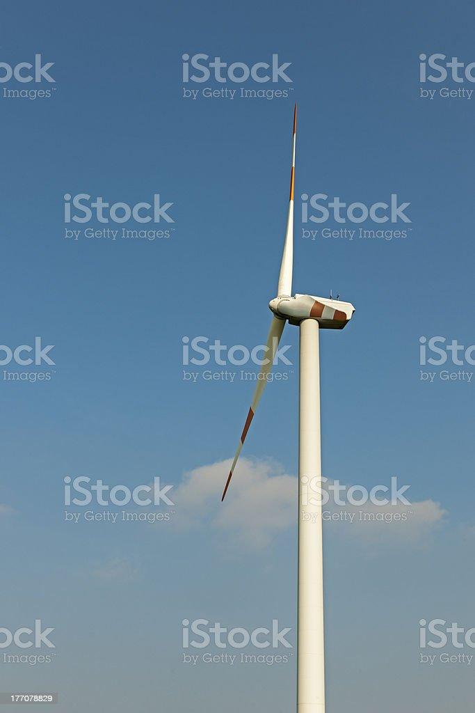 Wind turbine in summer royalty-free stock photo