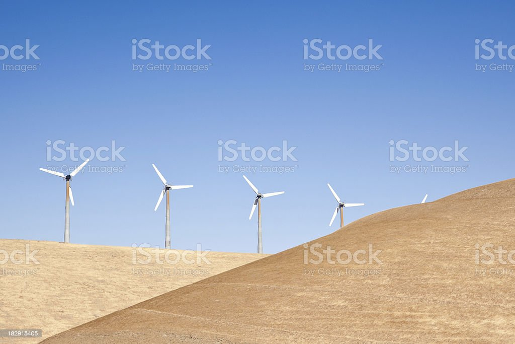 Wind Turbine in the works royalty-free stock photo