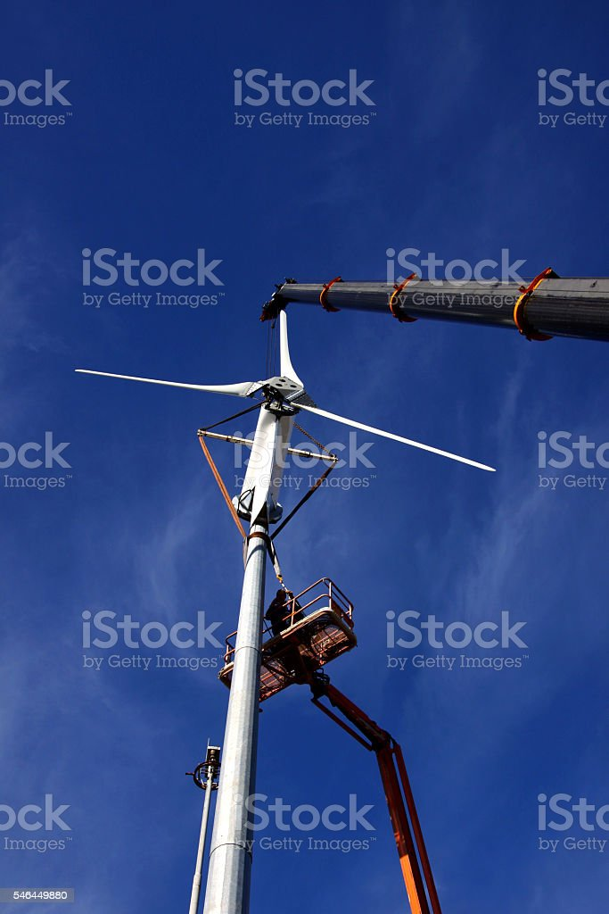 Wind Turbine Installation stock photo