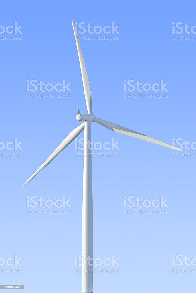 Wind turbine isolated (with clipping path) royalty-free stock photo
