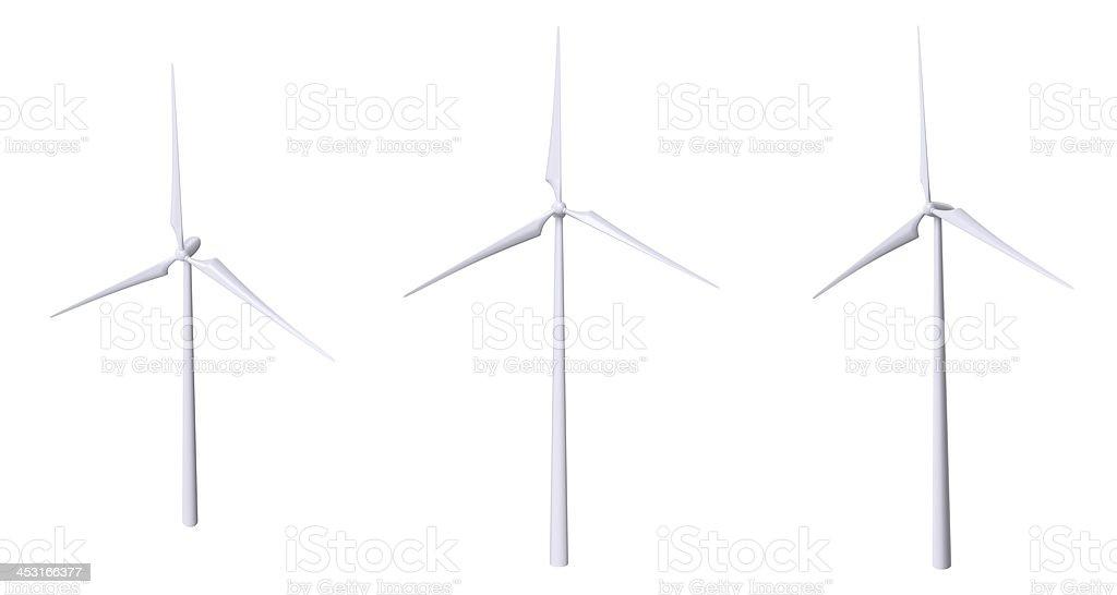 Wind Turbine Isolated royalty-free stock photo