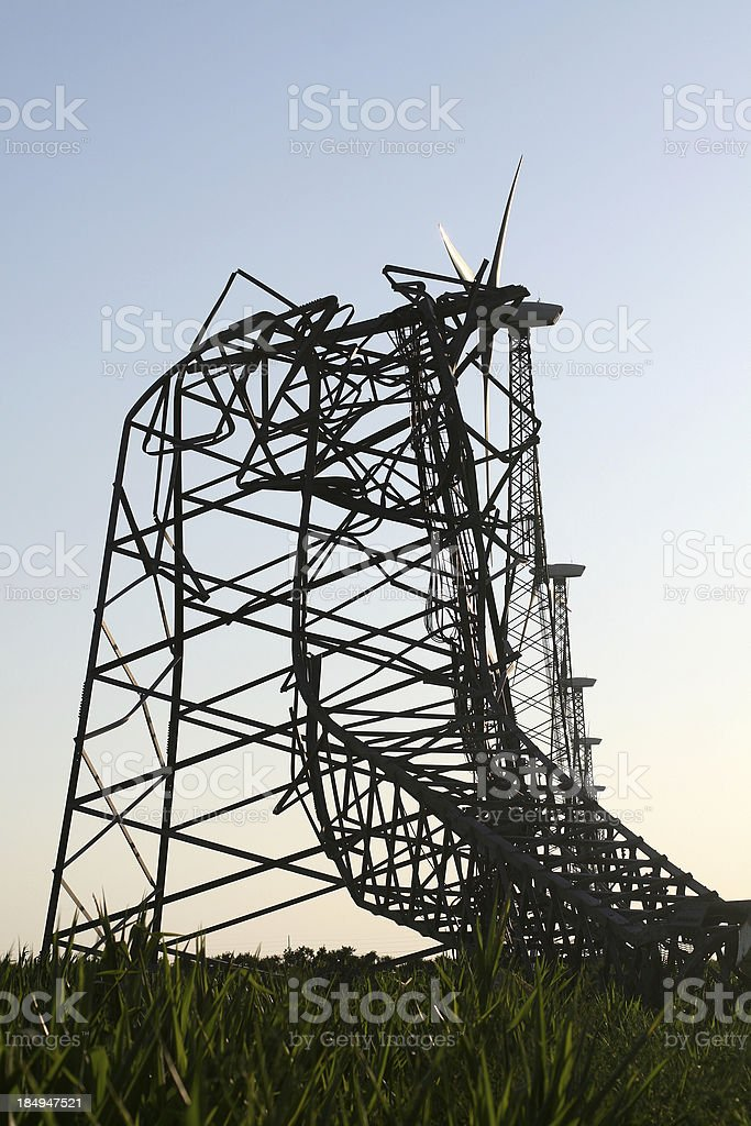 Wind Turbine Meltdown royalty-free stock photo