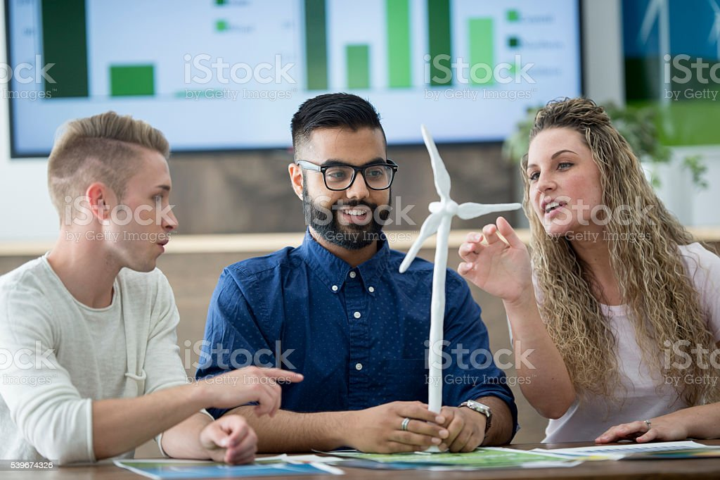 Wind Turbine Model stock photo