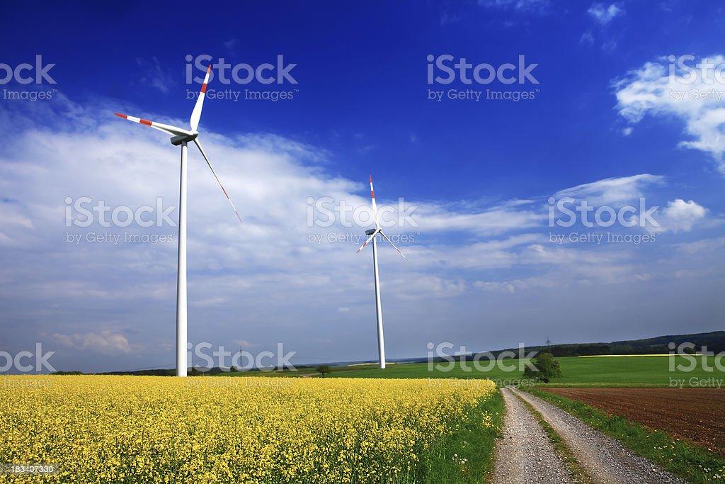 Wind Turbine on Sky royalty-free stock photo