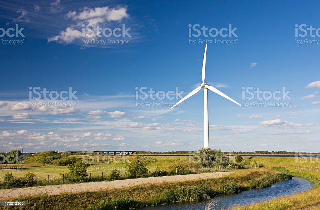 Wind turbine. royalty-free stock photo