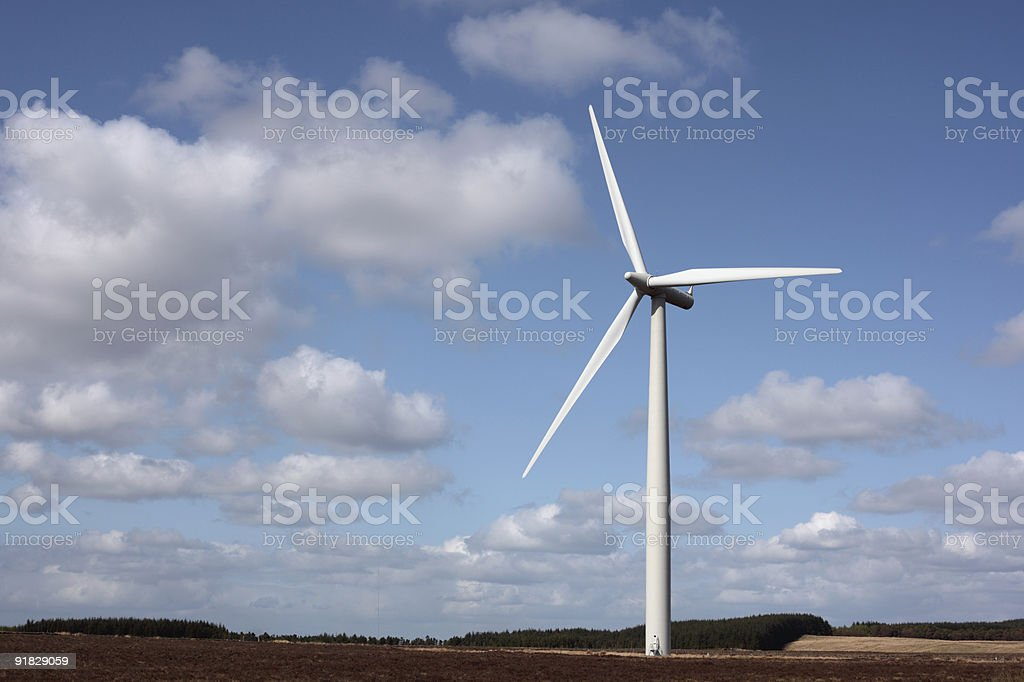 Ветряная электростанция Стоковые фото Стоковая фотография