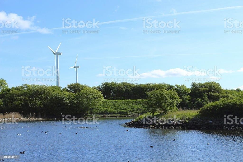 Wind turbine - power generation royalty-free stock photo