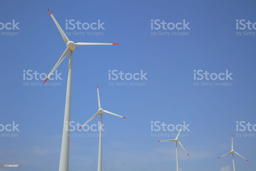 Wind turbine power station royalty-free stock photo