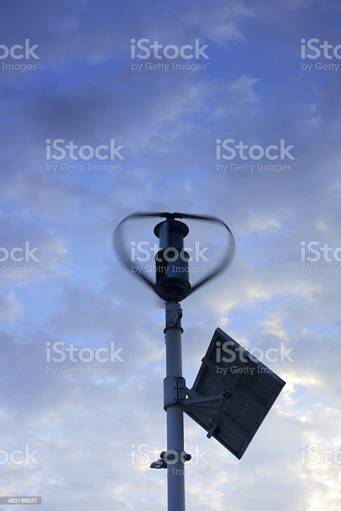 Wind Turbine & Solar Panels royalty-free stock photo