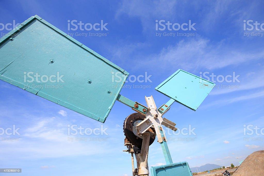 Wind turbine system in Long Hai, VietNam: wind-powered machinery royalty-free stock photo