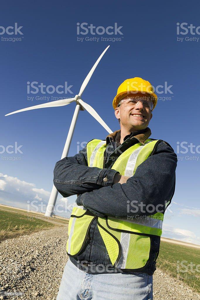 Wind Turbine Worker royalty-free stock photo