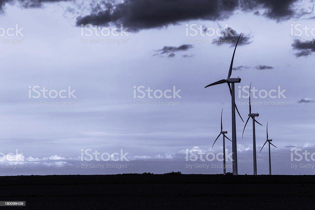 Wind Turbines - Aerogeneradores stock photo