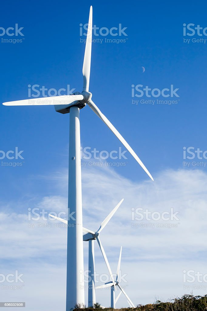 Wind turbines, alternative energy. stock photo