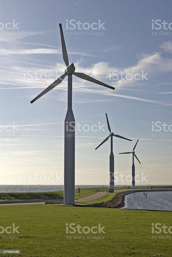 Wind Turbines at 'De Cocksdorp' (Texel, Netherlands) royalty-free stock photo