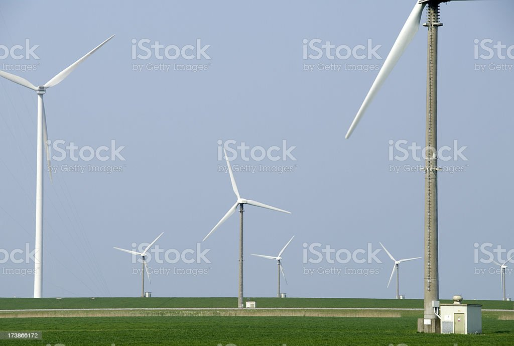 Wind Turbines at Groningen (Eemshaven) royalty-free stock photo