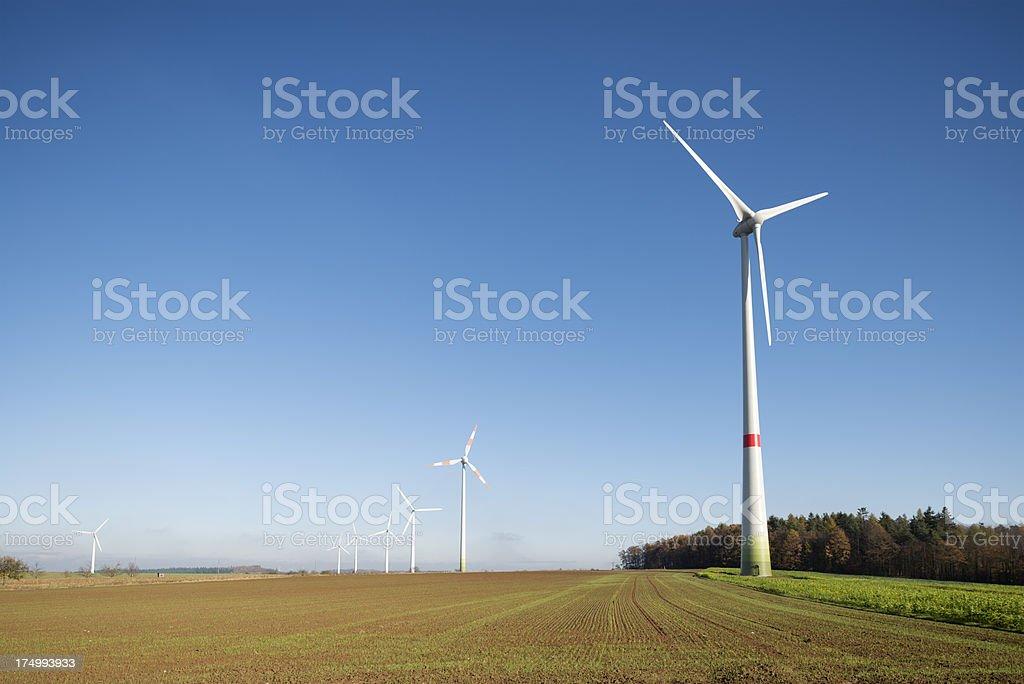 Wind Turbines, Energiewende stock photo