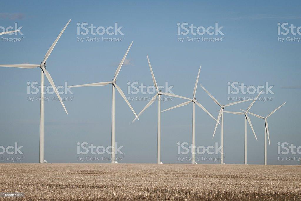 Wind turbines farm royalty-free stock photo