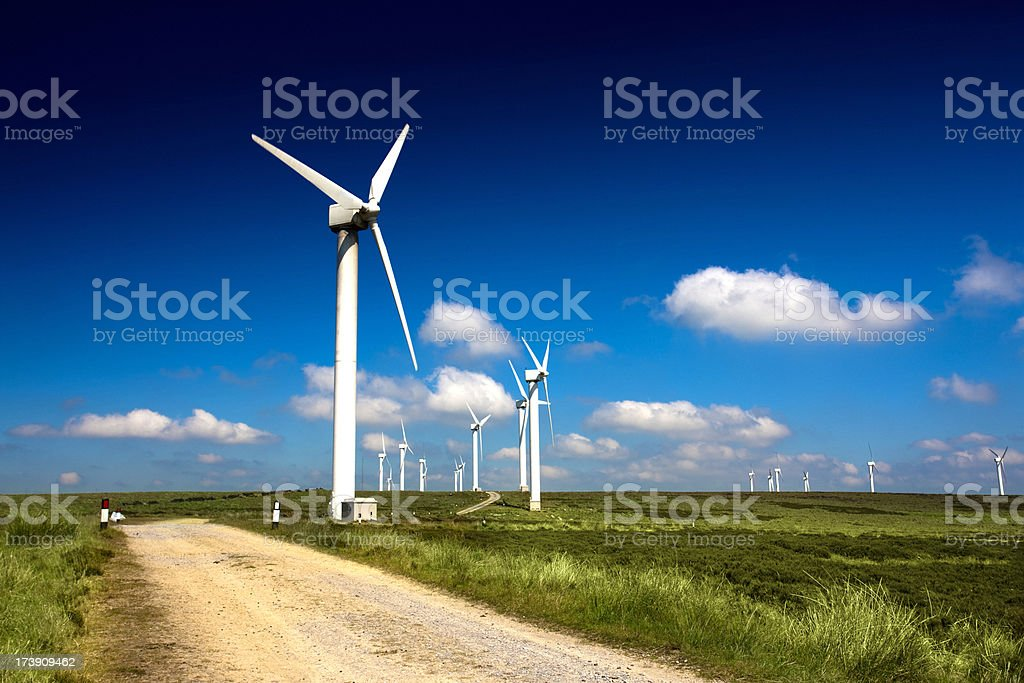 Wind Turbines Green energy royalty-free stock photo