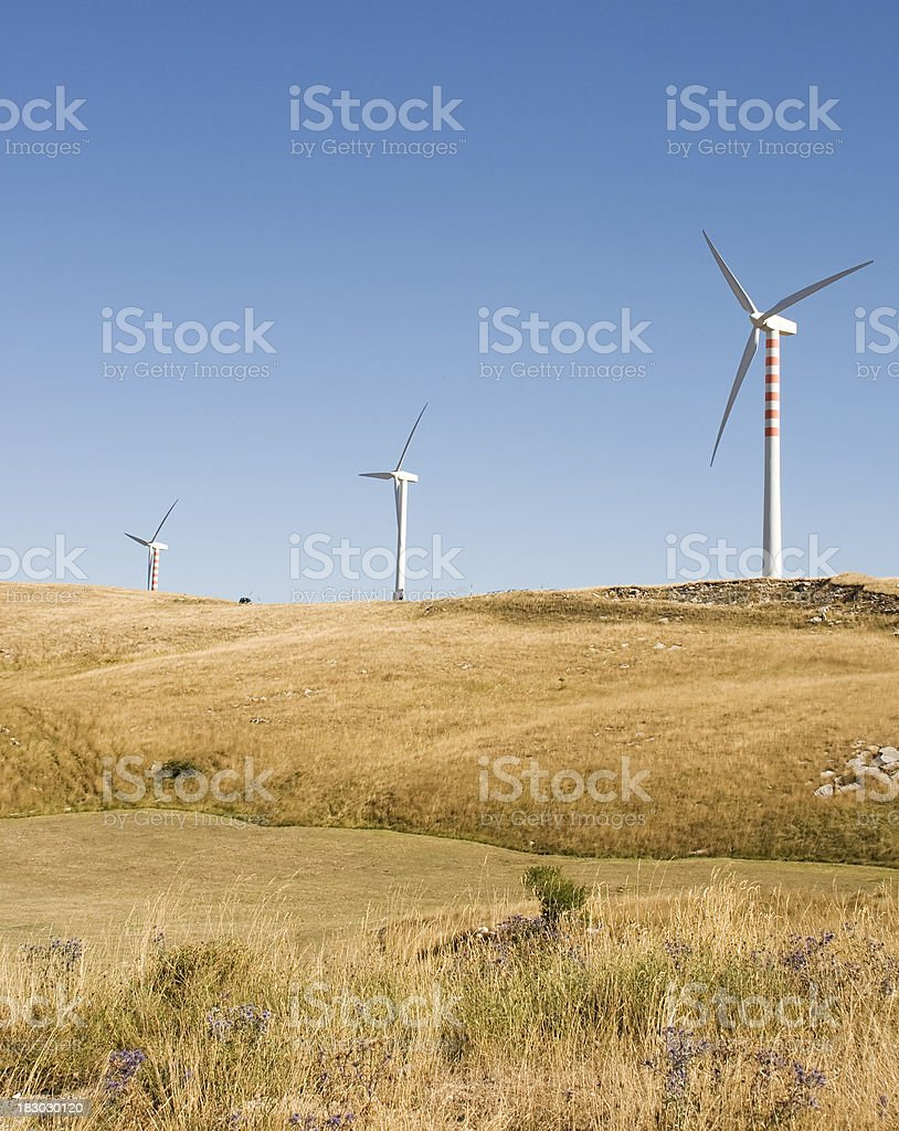 wind turbines in Italy contry royalty-free stock photo