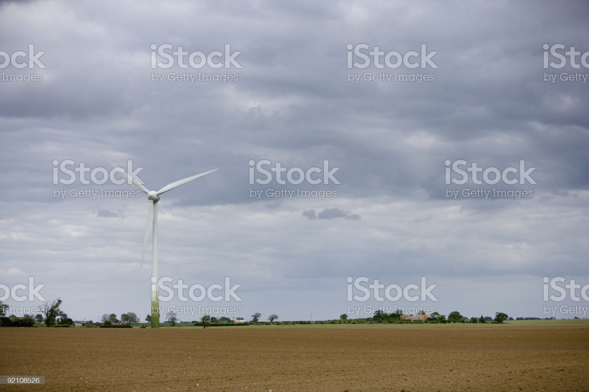 Wind turbines in Norfolk, England royalty-free stock photo
