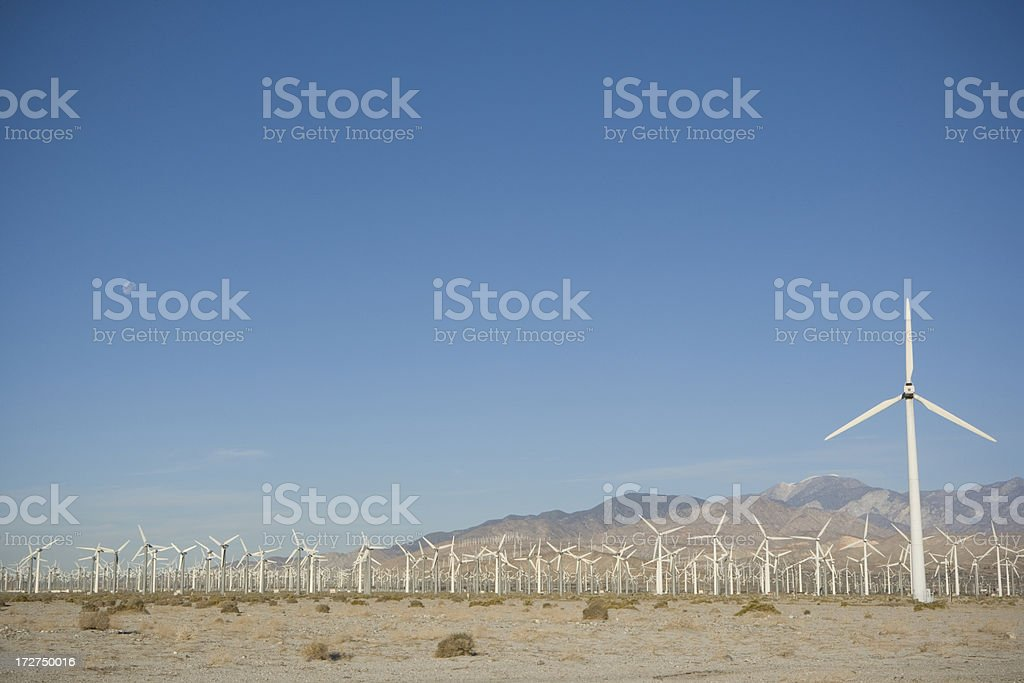 Wind Turbines in Palm Springs stock photo