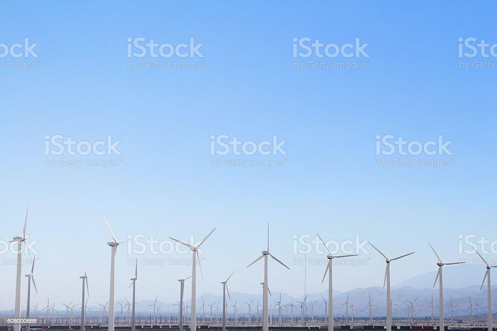 Wind Turbines in the Desert stock photo