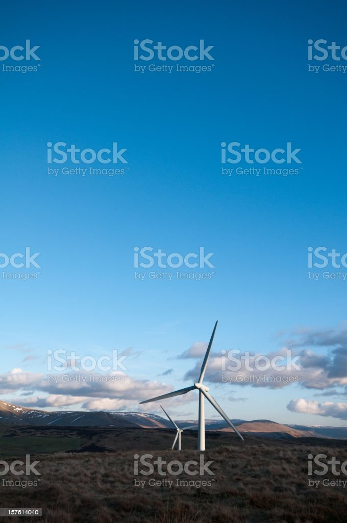 Wind turbines in the landscape royalty-free stock photo