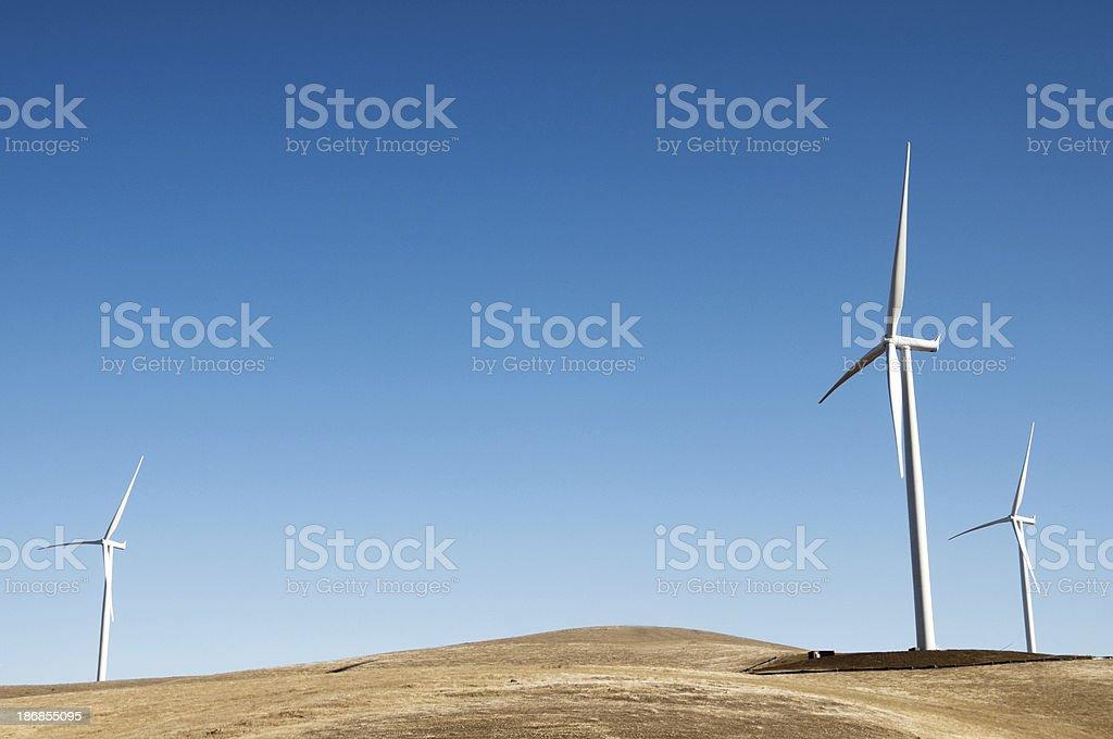 Wind Turbines on Vasco Road stock photo