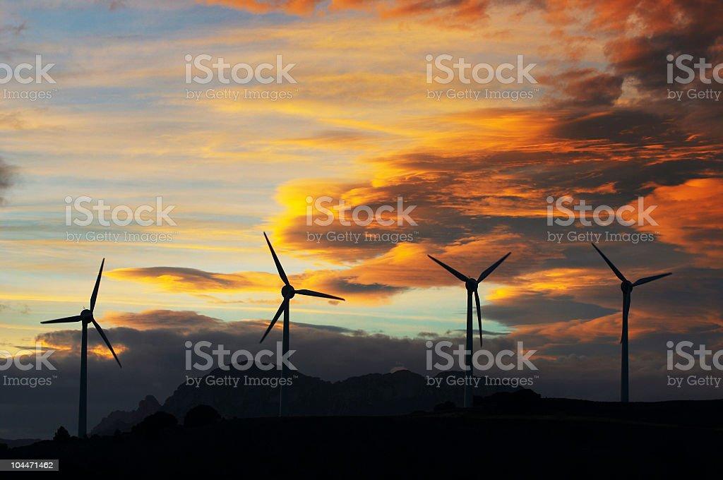 Wind turbines royalty-free stock photo