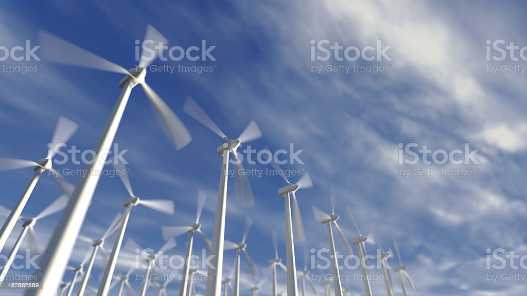 Wind Turbines stock photo